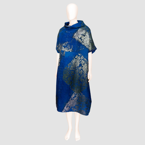 Hand Painted Silk Dress by Bun Hirano