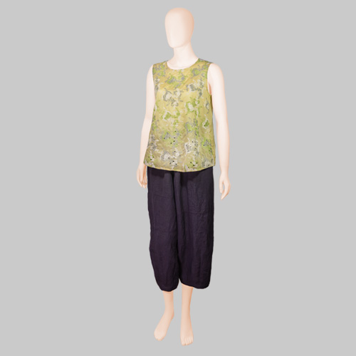 Cotton House Aya Embroidered Blouse with KOFU Pants