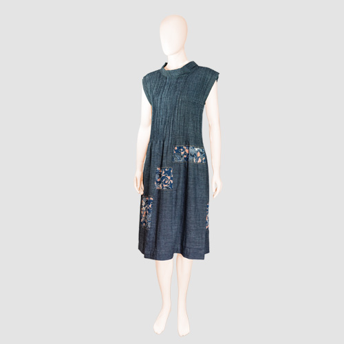 KOFU Pleated Ikat Dress