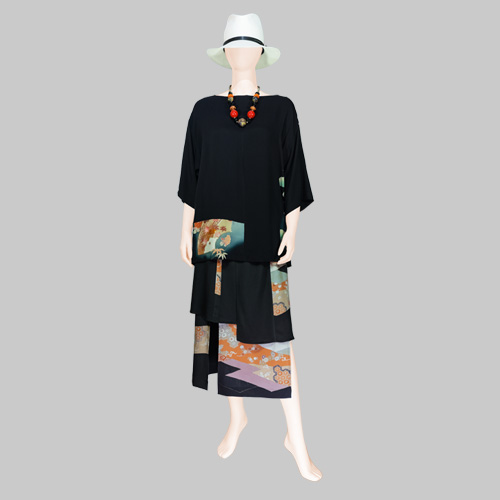 Vintage Kimono Blouse and Layered Skirt by Patch Magic