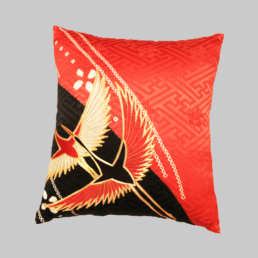 Cushion made of Kimono by Patch Magic